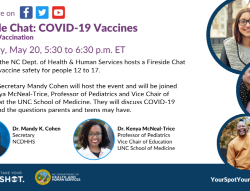 Please join us May 20th: NCDHHS Sec. Cohen and Kenya McNeal-Trice, Prof. of Peds and vice chair of Ed at the UNC School of Med